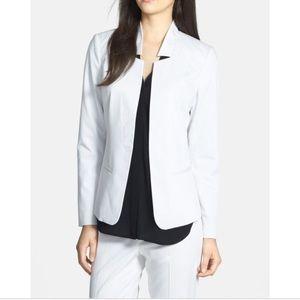 Trouve White pinstripe blazer size medium